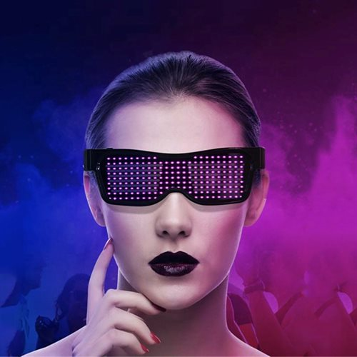 LED bluetooth brille